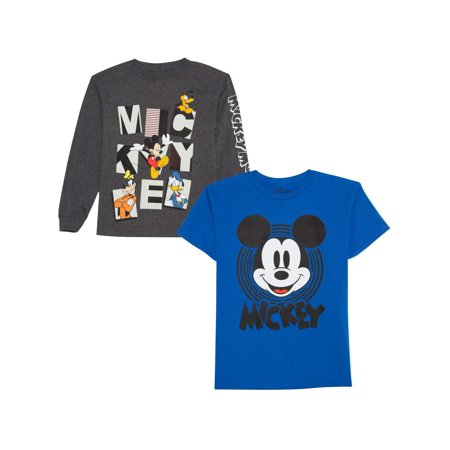 Disney Long And Short Sleeve Graphic Shirt Two Pack (Little Boys)