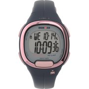 Timex Women's Ironman Transit 33mm Blue/Rose Gold-Tone Watch, Resin Strap