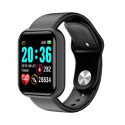 2021 Kudo Mart Pulse Tech Smart Watch for Android and Apple iPhones | Fitness Tracker Heart Rate Step Counter Sleep Monitor Messages IP67 Swimming Waterproof for Women and Men | KM20 44mm Black