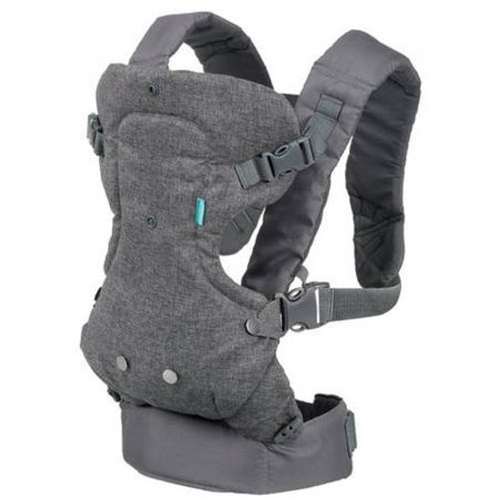 Infantino Infant Sling - Infantino Flip Advanced 4-in-1 Convertible Carrier, Gray