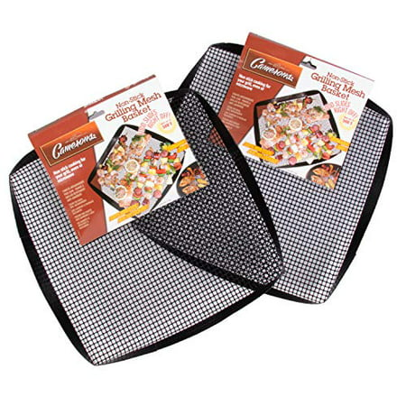 - BBQ Pit Boys Grilling Mesh Basket - Reusable, Non-Stick, Heavy Duty Grilling Mat for Barbecues
