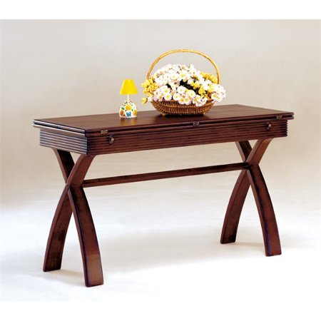 Furniture of America Frunex Extendable Console Table in Dark (Dark Cherry Office Furniture)