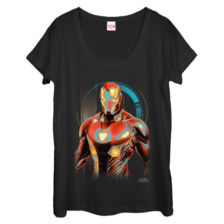 Marvel Women's Avengers: Infinity War Iron Man Future Scoop Neck - Women Avengers