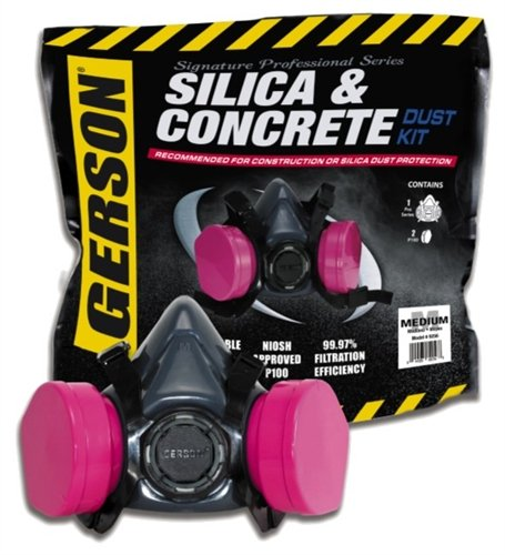 Gerson 9357 Silica & Concrete Dust Respirator Kit with Filters (Large) by Gerson