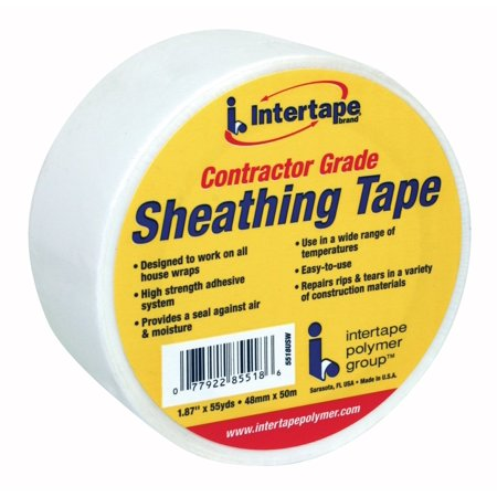 85518 Sheathing Tape, 1.88-Inch x 54.6-Yard,White, Provides a permanent seal for joints in housewrap and foam insulation By Intertape Polymer Group