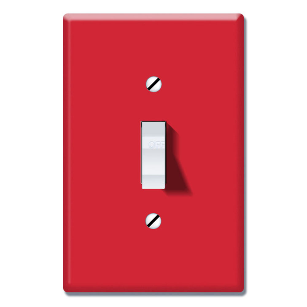 Wirester 1 Gang Toggle Light Switch Wall Plate Switch Plate Cover Solid Red Walmart Com Walmart Com
