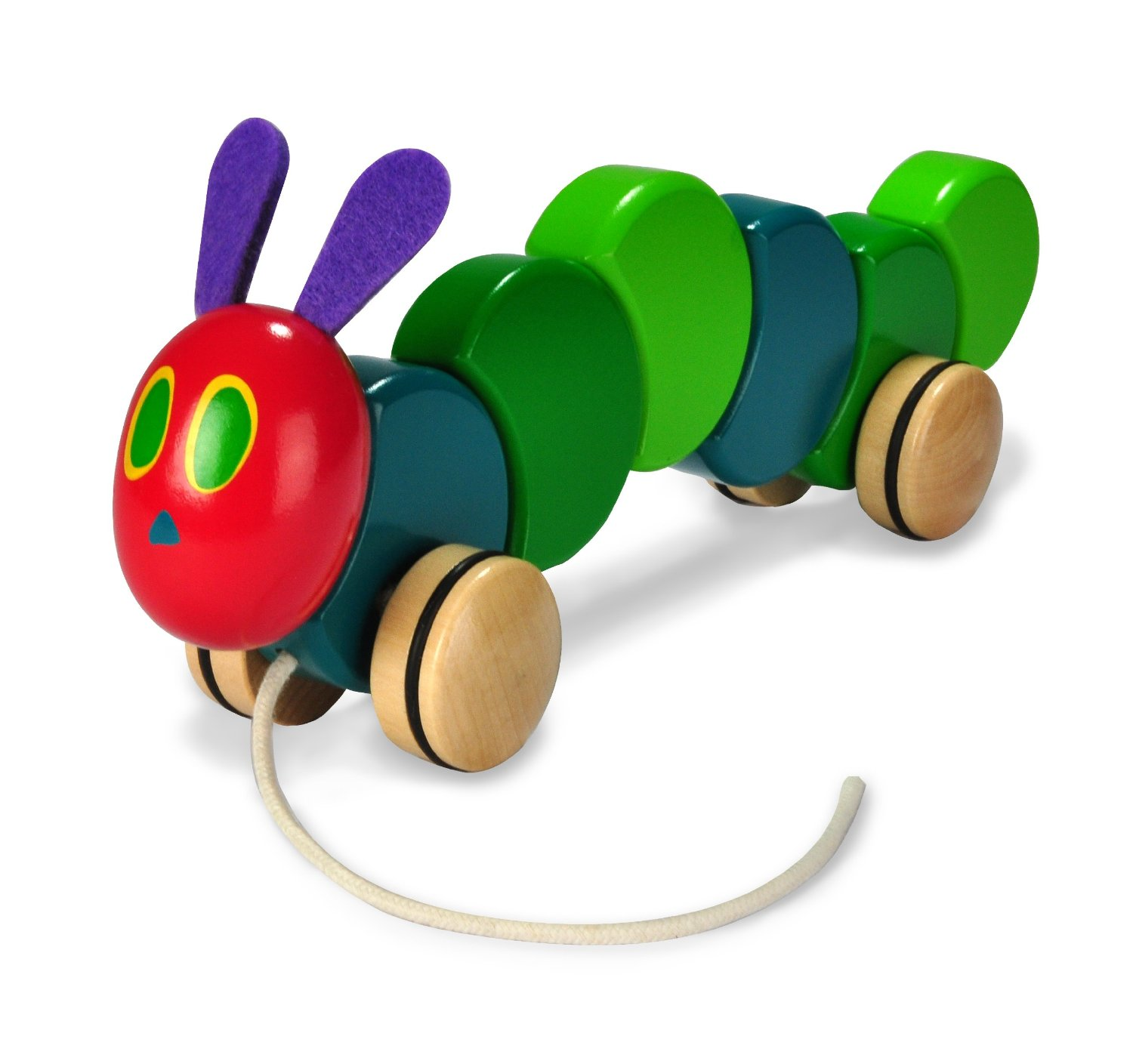 Kids Preferred World of Eric Carle The Very Hungry Caterpillar Wood Pull Toy