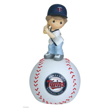 (Precious Moments MLB Minnesota Twins Girl On Baseball Musical Figurine #114117)