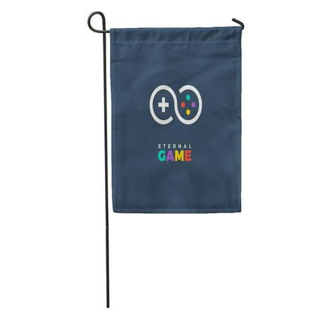 LADDKE Gamer Line of Gamepad Gaming Game Company Eternal Fun Console Garden Flag Decorative Flag House Banner 12x18 inch
