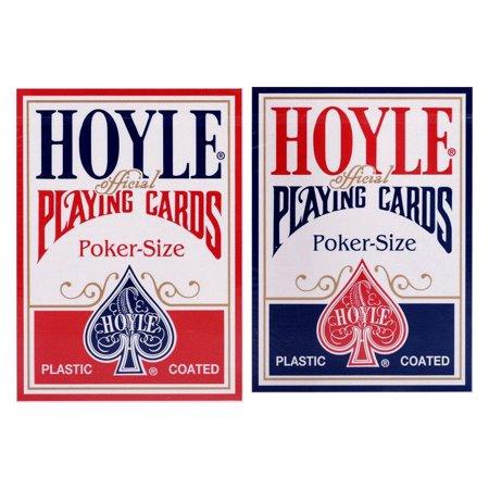 2 Decks Hoyle Standard Poker Playing Cards Red and Blue Brand New Decks Hoyle Poker Deck