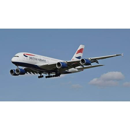 LAMINATED POSTER Plane British Airways Airport Jet Landing Airbus Poster Print 24 x 36