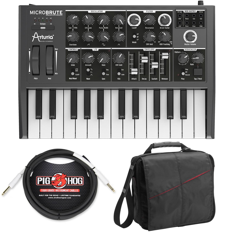 Arturia Microbrute Analog Synthesizer w/ Gig Bag & PigHog PH10 Cable