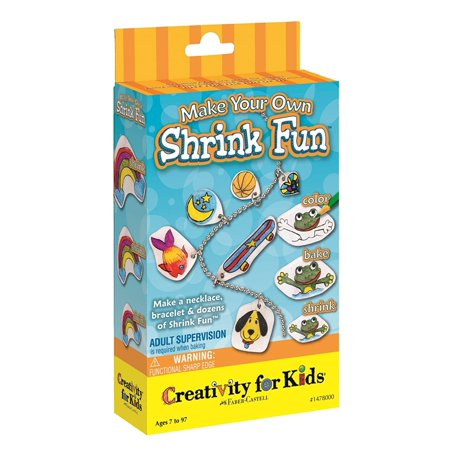 Creativity For Kids Make Your Own Shrink Fun, Make your own Shrinky Dinks kit by Creativity for Kids. Package includes 5 sheets of shrink film, colored pencils, ball.., By Faber Castell ()