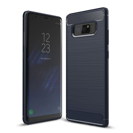Fix Carbon Fiber (Galaxy Note 8 Case, Note 8 Case, [Slim Fit] Light Weight Anti-fingerprint Skin Carbon Fiber Flexible Durable TPU with Protective Armor Case Cover for for Samsung Galaxy Note 8)
