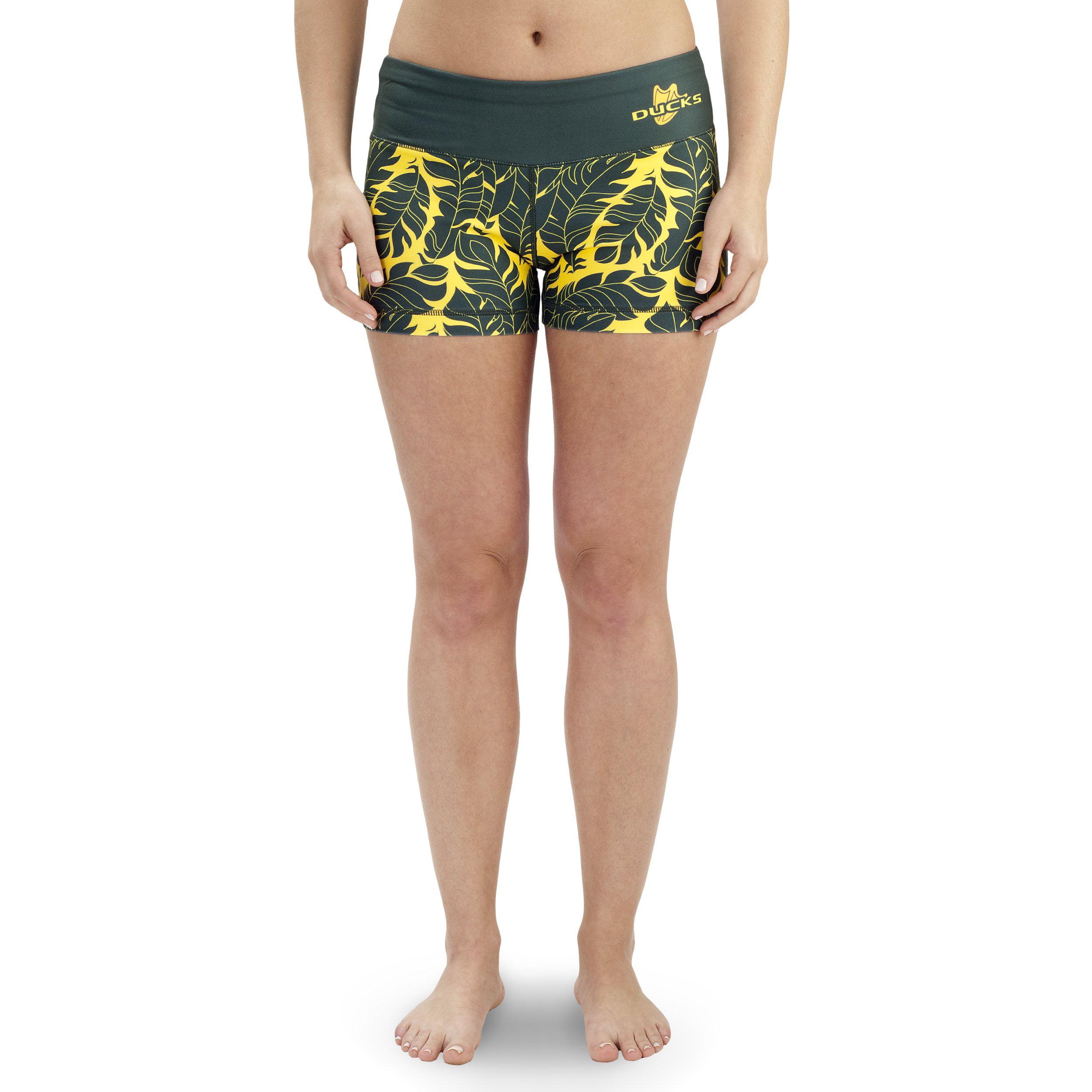 NCAA Women's Oregon Ducks Thematic Print Bootie Shorts, Green