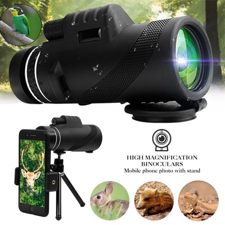 50x60 Monocular Telescope, High Power HD Monocular for Adults with Phone Holder Clip & Tripod, BAK4 Prism Dual Focus Telescope for Bird Watching, Camping, Hunting,