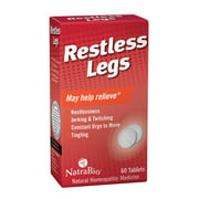 NatraBio Restless Legs Homeopathic Formula   For Temporary Relief from Restlessness, Twitching & Constant Urge to Move   Non-Drowsy   60 Tablets