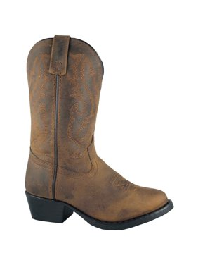 Smoky Mountain Kid's Denver Brown Oil Distressed Western Boots 3034