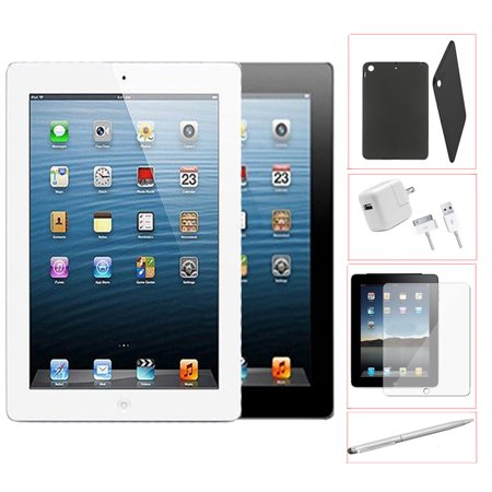 Refurbished Apple iPad 2 64GB Black - WiFi - Bundle - Case, Rapid Charger, Tempered Glass & Stylus