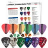 ChromaCast 12-Pack Guitar Picks, Assorted Colors and Gauges, Pearl Celluloid and Delrin Durapicks