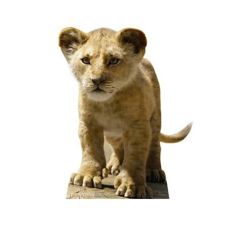 Young Simba (from Disney's The Lion King) Cardboard Stand-Up, 3ft (Lion Cardboard Stand)