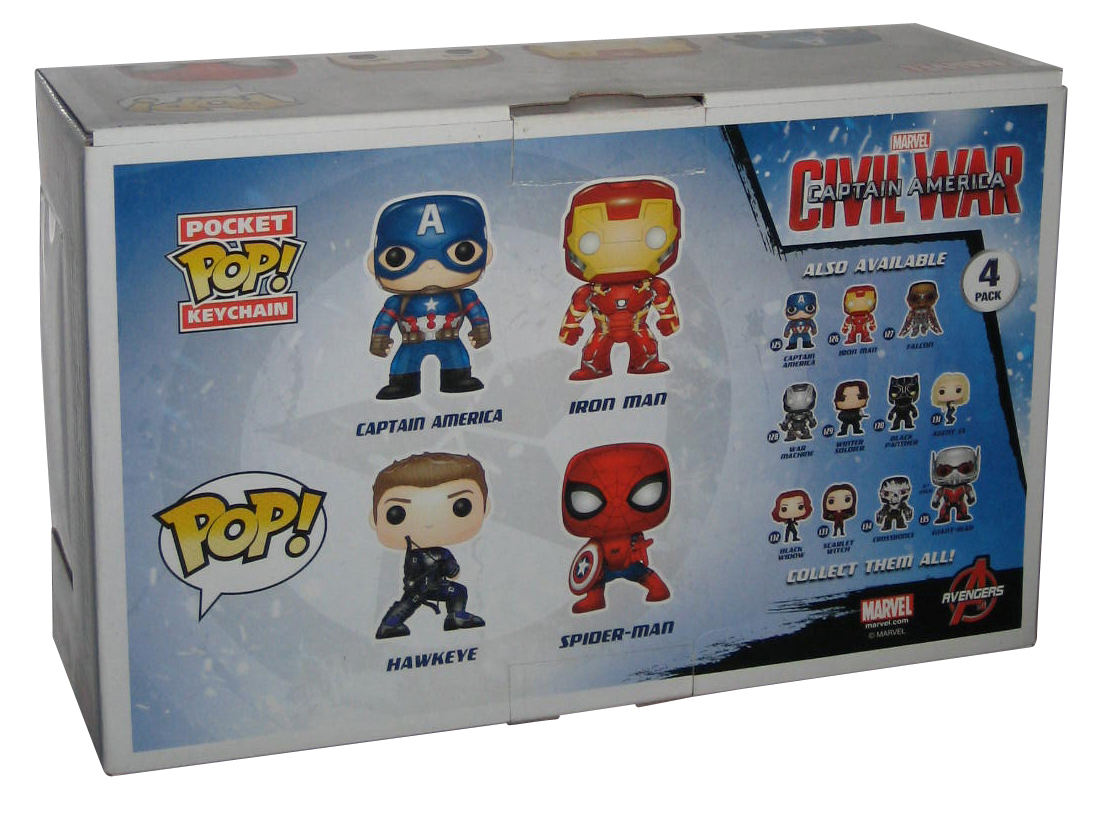 Hawkeye /& Keychain 4Pk Vinyl Civil War Funko Pop Marvel Captain America Pop
