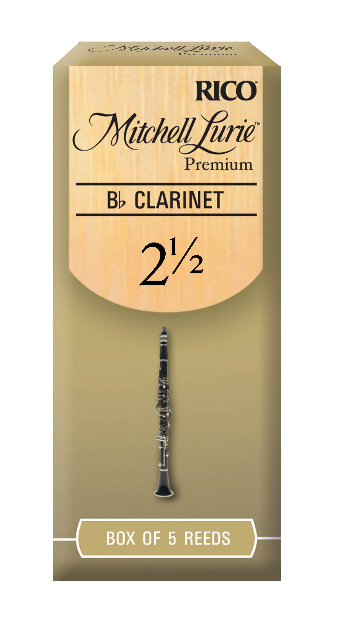 Rico 1.5 Strength Reeds for Bb Clarinet Pack of 3