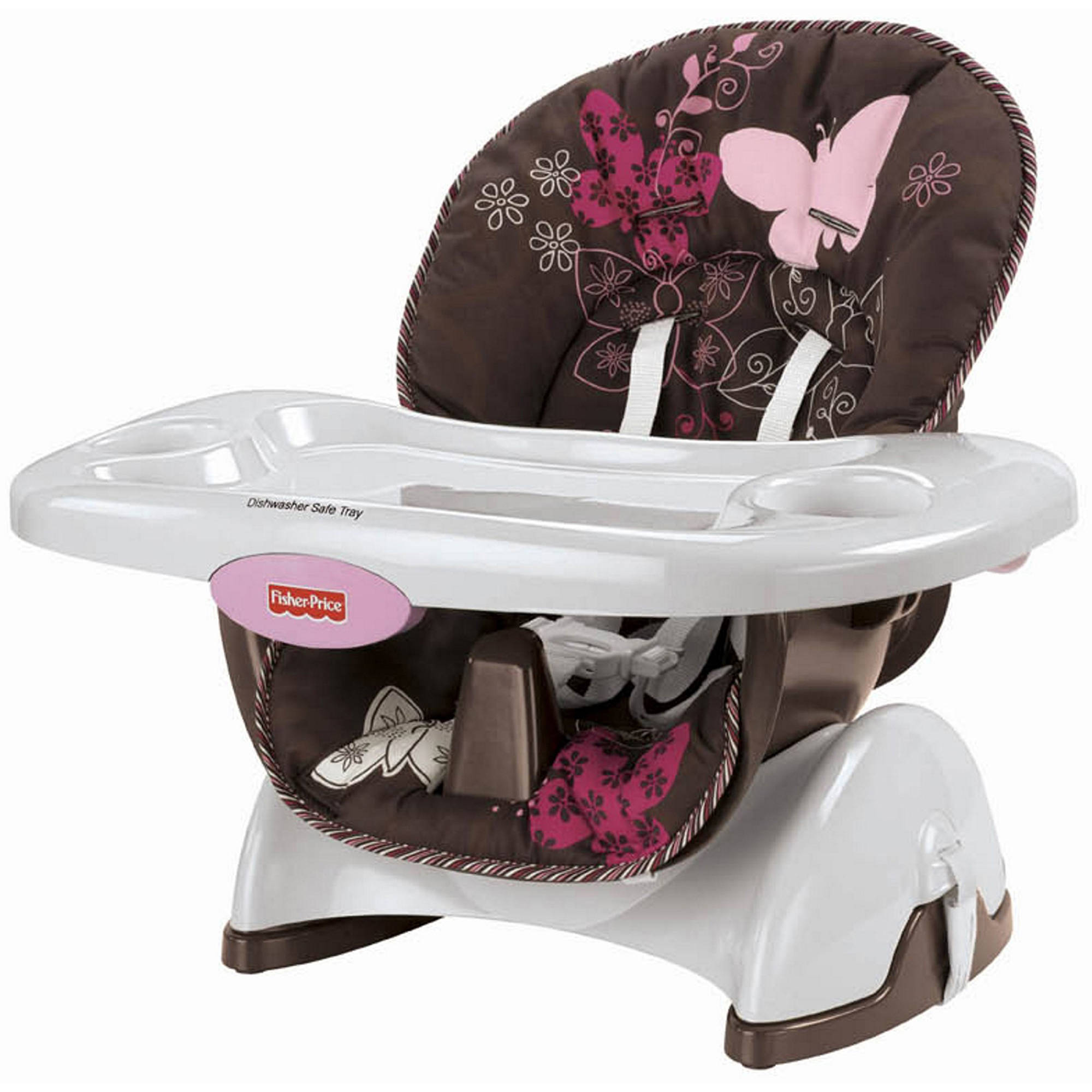 Fisher-Price - Space-Saver High Chair, Mocha Butterfly