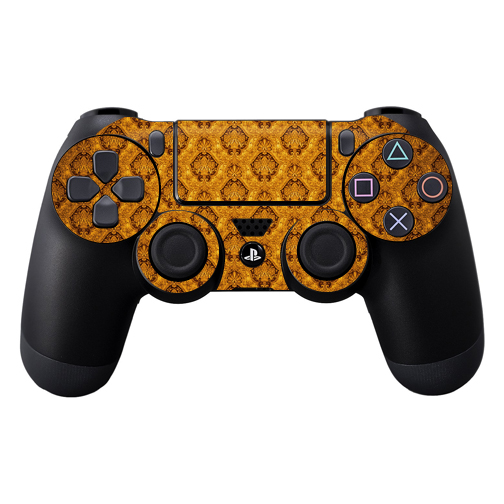 Protective Vinyl Skin Decal Cover for Sony PlayStation DualShock 4 Controller wrap sticker skins Vintage Gold