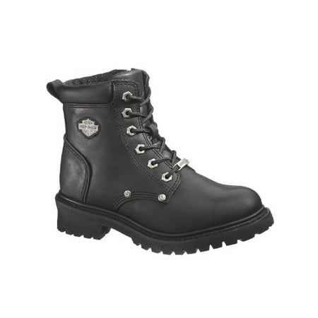 Harley-Davidson Women's Shawnee Lace Up Black 5-Inch Motorcycle Boots D84399, Harley Davidson ()