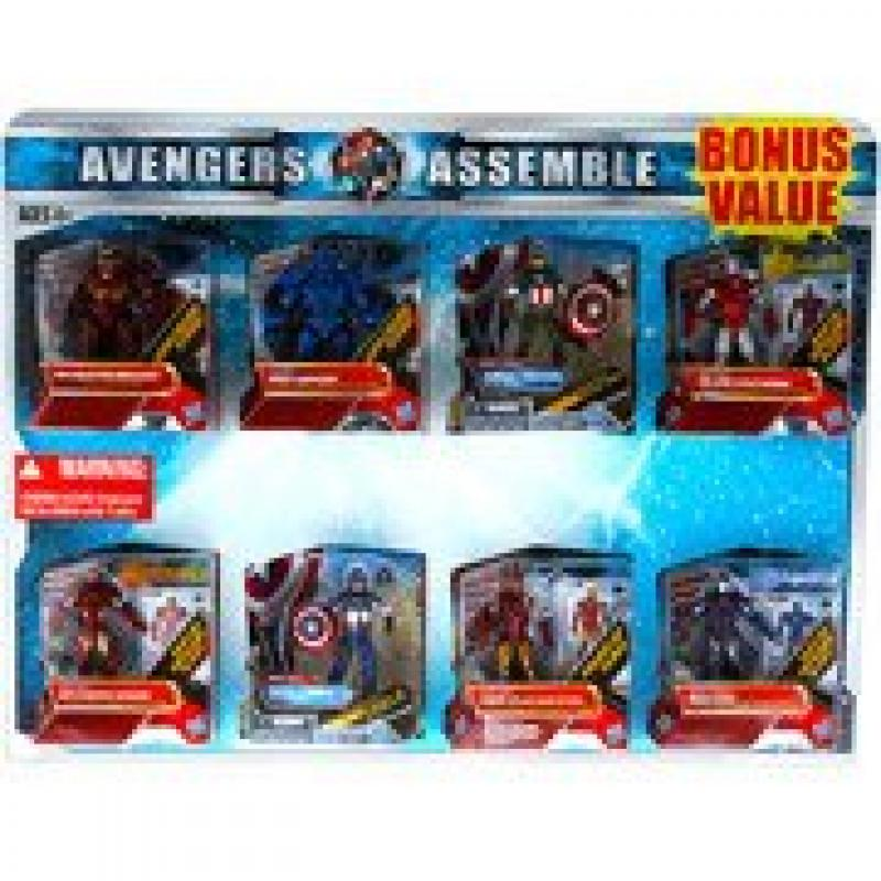 Marvel Avengers Action Figures, Set of 8 Value Pack