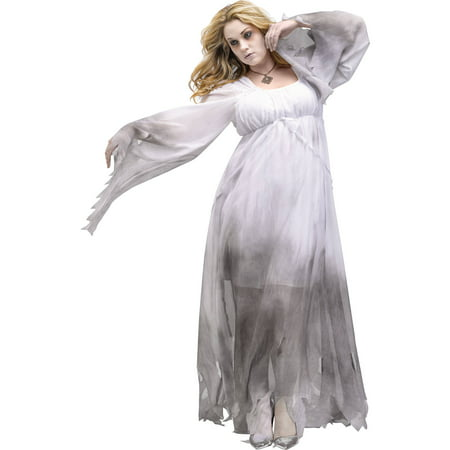 Gothic Ghost Women's Plus Size Adult Halloween Costume](Adult Ghost Costume)