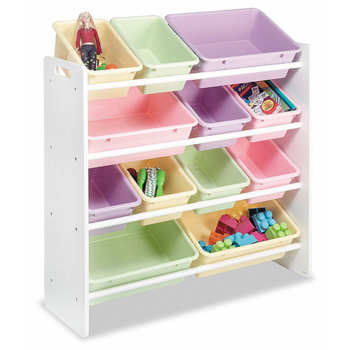 Whitmor Kids 39 12 Bin Organizer Pastel C Storage Organizers For Kids