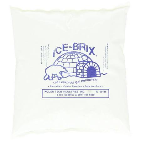 Polar Tech IB 16 Ice Brix Refrigerant Packs, Standard Leakproof, 16oz Capacity (Case of
