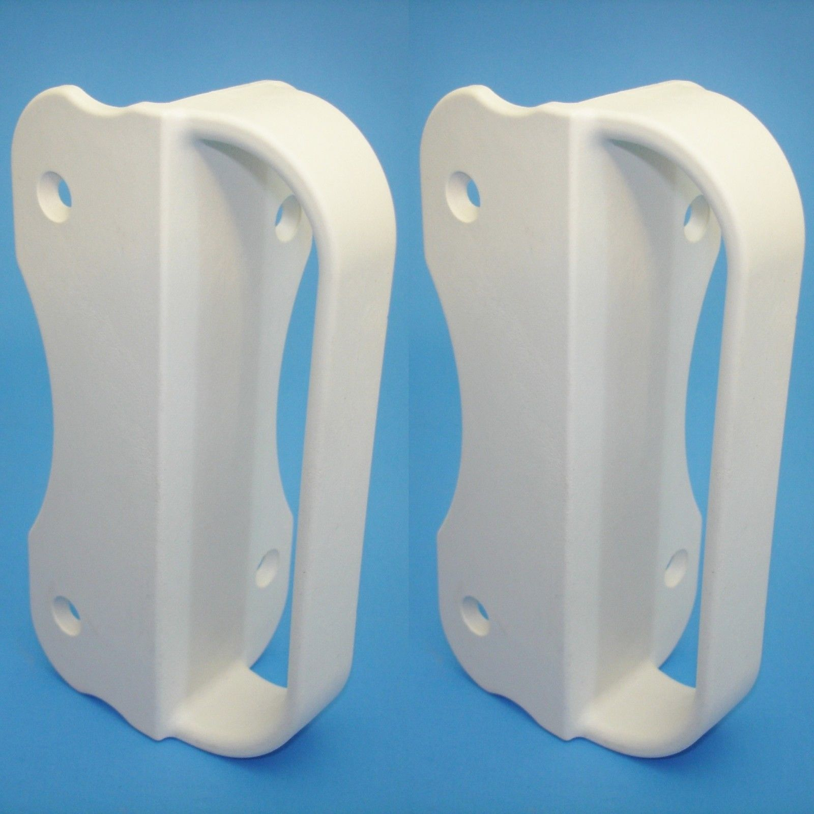 Universal NYLON GATE HANDLE -WHITE: Pull works with Wood, Metal, or Vinyl gates. 2 PACK