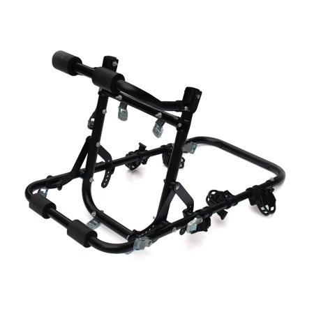 Aluminum Alloy Foldable Strap On Car Trunk Mounted 3 Bike Bicycle Rack Carrier - image 7 de 8