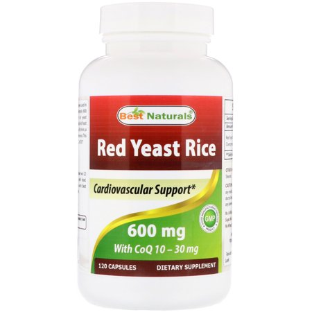 Best Naturals  Red Yeast Rice  with CoQ10  600 mg  120