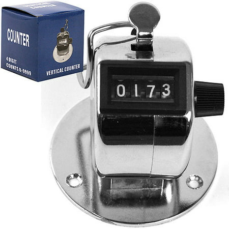 Stalwart Tally Counter Clicker, Handheld or Base Mounted
