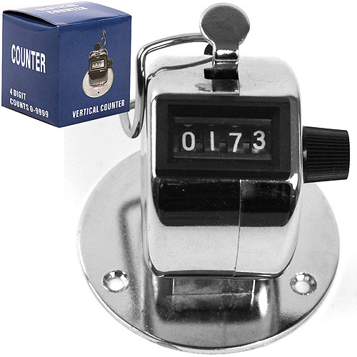 Stalwart Tally Counter Clicker, Handheld or Base Mounted