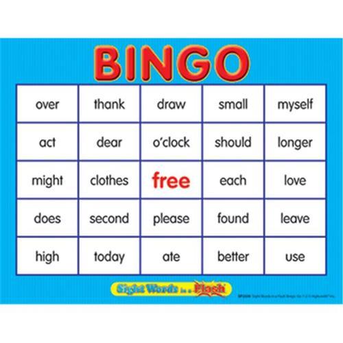 Edupress EP-2339 Sight Words In A Flash Bingo Gr 1-2