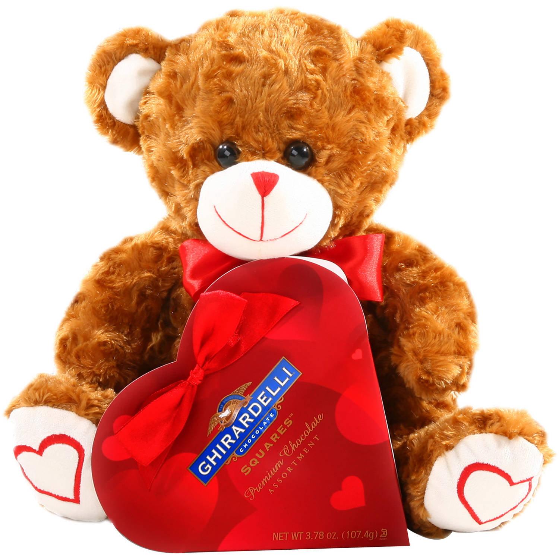alder creek valentine teddy bear & chocolates gift set, 2 pc, Ideas
