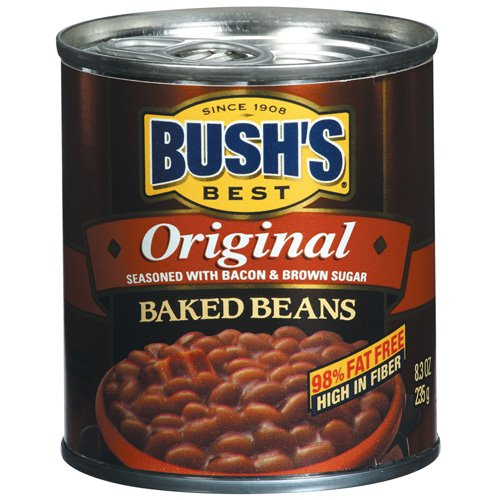 Bushs Best Original Seasoned Baked Beans With Bacon And Brown Sugar, 8.3 oz by Bush Brothers & Co.