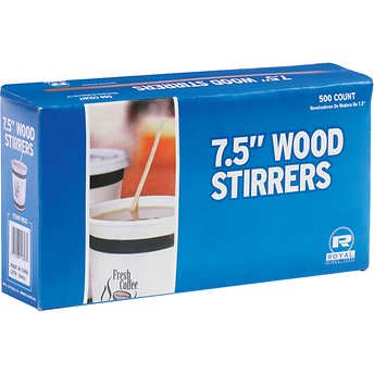 Wooden Coffee Stirrer (Royal Wood Beverage Stirrers, 7 1/2