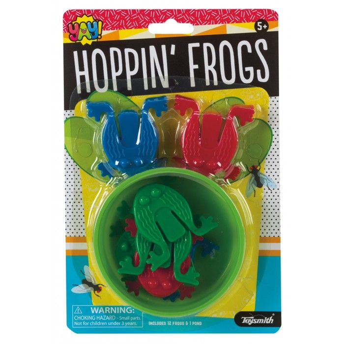 Hoppin Frogs (Colors Vary) - Family Game by Toysmith (90935)