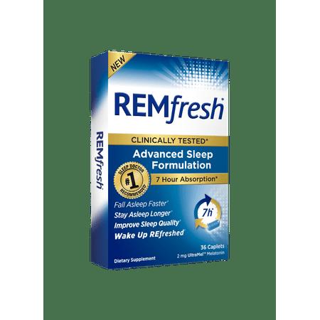 REMfresh UltraMel Melatonin Advanced Sleep Formulation Caplets, 2mg, 36 - Sleep Caplets