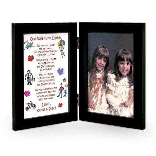 Personalized Daddy Valentine Bi-Fold Picture Frame