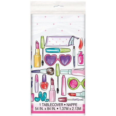 Spa Party Plastic Tablecloth, 84 x 54 in, 1ct](Girls Spa Party)