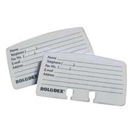 Rolodex Corporation ROL67553 Card Refills- For Petite Card Files- 2-.25in.x4in.- 100 Cards- White