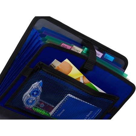 Case It S-826 Open Tab 3 Ring Binder With Velcro Strap, 2u0022 Capacity