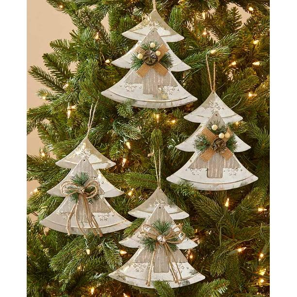 The Lakeside Collection Set Of 4 Farmhouse Country Christmas Oversized Tree Ornaments Walmart Com Walmart Com